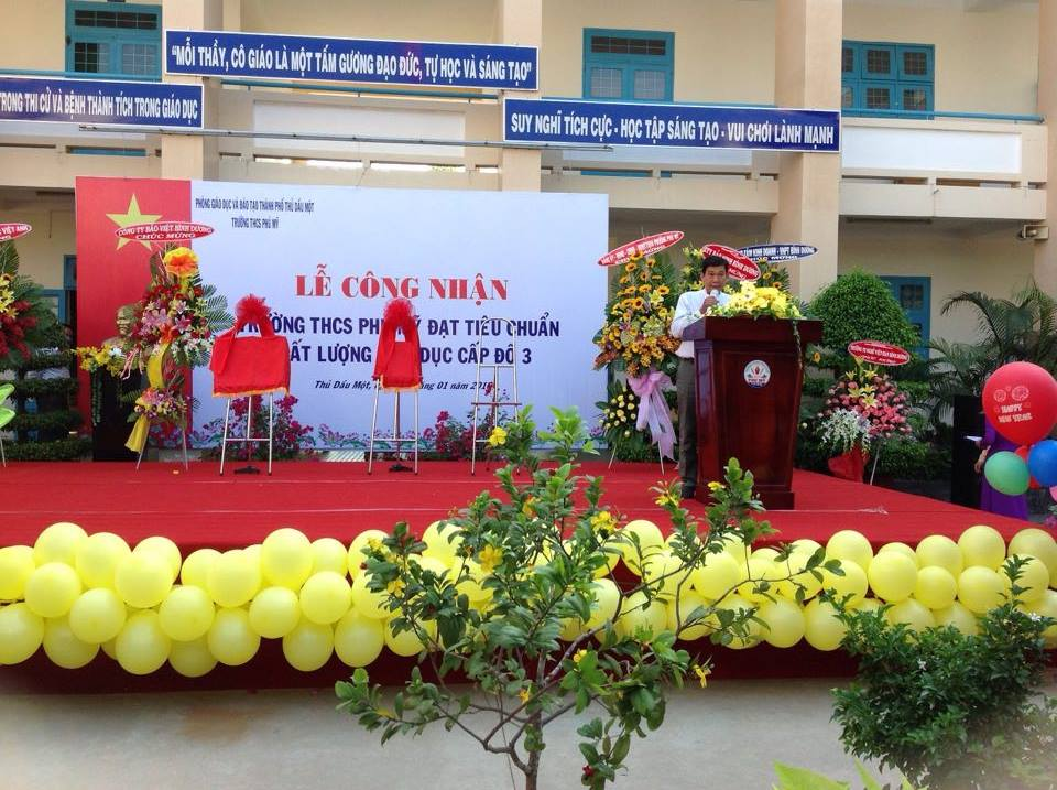 Trường THCS Phú Mỹ tổ chức Lễ Công Nhận KĐCL cập độ 3